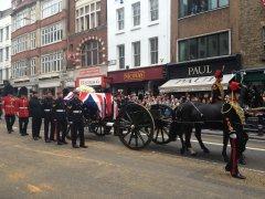 Maggie Thatcher's Funeral