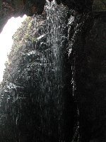 Cave waterfall at Plemont