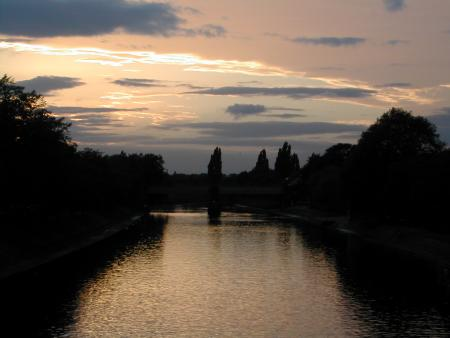 Sunset over the River Ouse in York