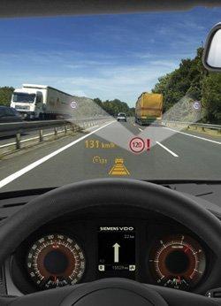 Siemens heads up road sign display